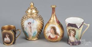 Two Vienna porcelain portrait pieces