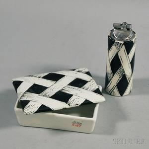 Raymor Ceramic Box and Lighter