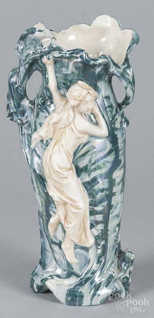 Royal Dux art noveau porcelain vase