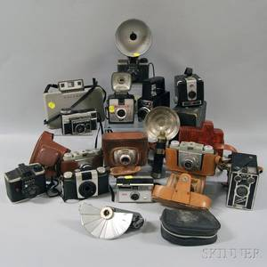 Group of Vintage Cameras and Camera Accessories