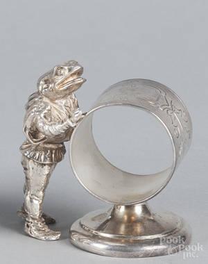 Silverplate figural napkin ring