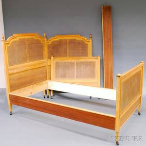 Pair of Frenchstyle Fruitwood Beds