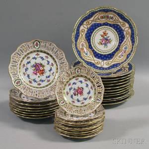 Twentynine Continental Porcelain Plates