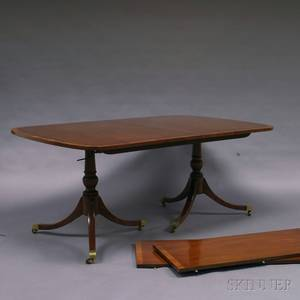 Kittinger Mahogany Doublepedestal Dining Table