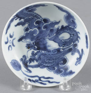 Chinese blue and white porcelain saucer