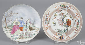 Chinese export porcelain European subject plate 18th c