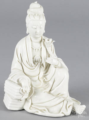 Chinese dehua figure of a seated Quanyin