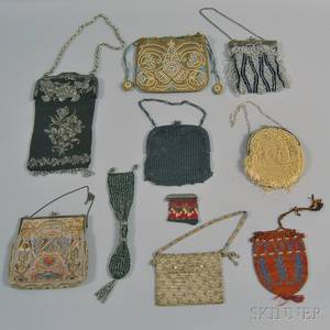 Ten Assorted Evening Purses Bags and Pouches