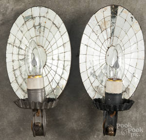 Pair or mirrored sconces