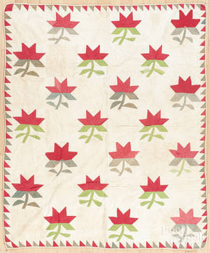 Pennsylvania floral appliqu youth quilt