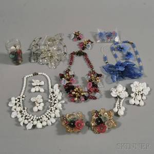 Collection of Costume Jewelry Attributed to Miriam Haskell