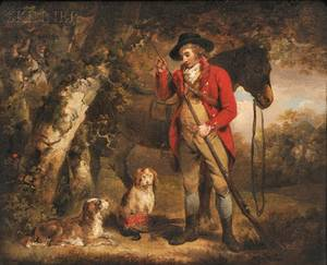 Attributed to George Morland British 17631804 Wood Cock  Pheasant Shooting