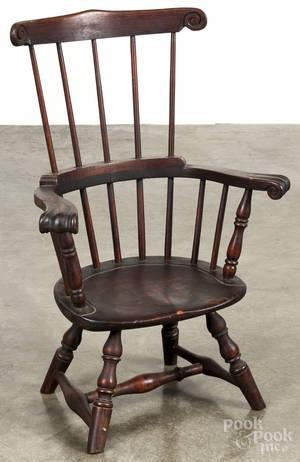 Childs combback Windsor armchair