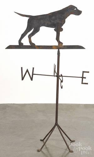 Sheet iron setter weathervane