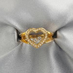 18kt Gold Happy Diamond Ring Chopard