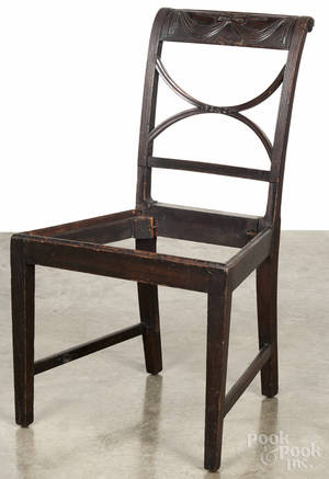 New York Federal mahogany dining chair