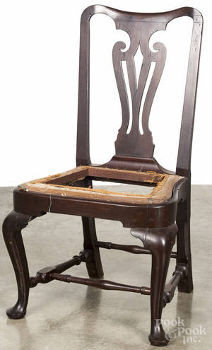 Queen Anne mahogany dining chair