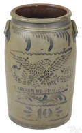 Pennsylvania tengallon stoneware crock 19th c