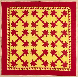 Pennsylvania Mennonite appliqu quilt ca 1900