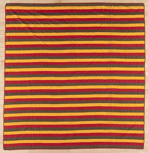 Pennsylvania Mennonite bar quilt ca 1900