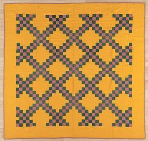 Pennsylvania patchwork Irish chain quilt early 20th c