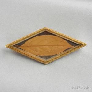 Antique 18kt Gold Leaf Brooch Tiffany  Co