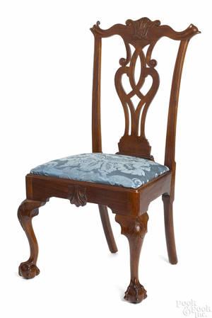 Philadelphia Chippendale mahogany dining chair ca 1770