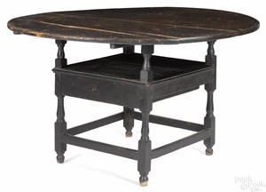New England painted chair table late 18th c