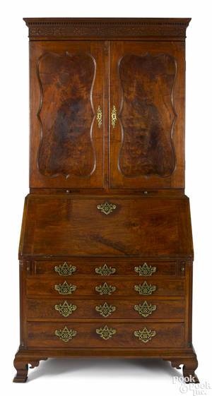 Pennsylvania Chippendale walnut desk and bookcase ca 1765