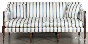 English Sheraton mahogany sofa