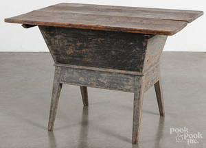 Painted pine dough box table