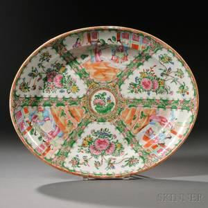 Rose Medallion Oval Porcelain Platter