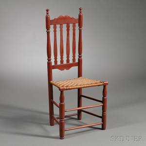 Redpainted Bannisterback Chair