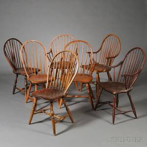 Seven Bowback Windsor Chairs