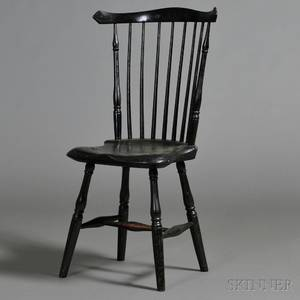 Blackpainted Fanback Windsor Chair