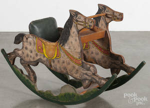 Lithograph horse childs rocker