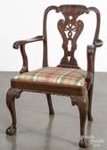 George III carved mahogany armchair