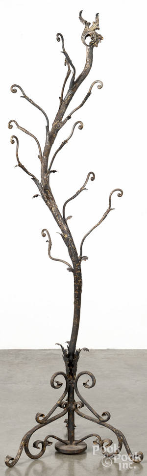 Bronze treeform coat rack