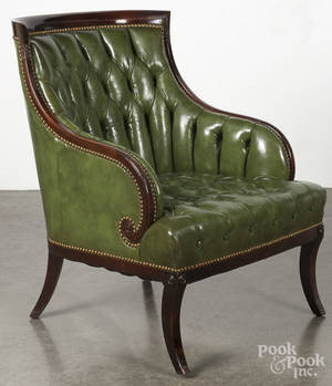 Classical style mahogany armchair