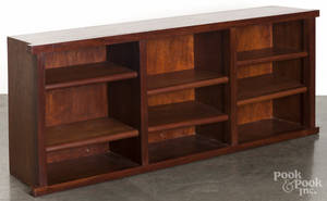 Pair of cherry bookcases