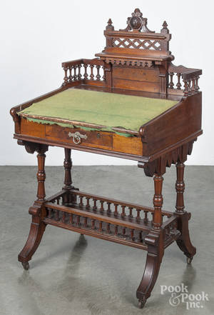 Victorian mahogany ladys writing desk