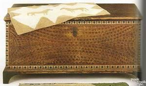 Lebanon County Pennsylvania painted pine blanket chest ca 1800