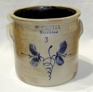 Threegallon stoneware crock 19th c