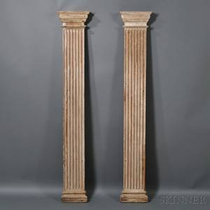 Pair of Fluted Pilaster Architectural Elements