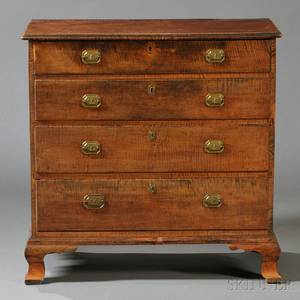 Chippendale Tiger Maple Chest of Drawers
