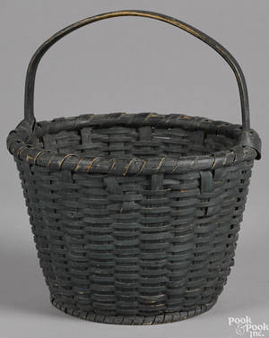 Painted split oak basket 19th c