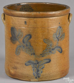 Large Pennsylvania stoneware crock 19th c