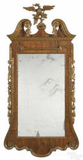 Frank Auspitz York Pennsylvania mahogany veneer and giltwood Constitution mirror