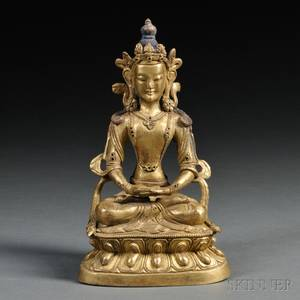 Giltbronze Figure of Avalokiteshvara