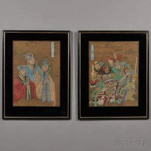 Pair of Figural Paintings